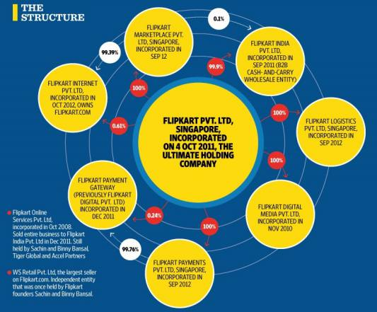 Flipkart Company Structure