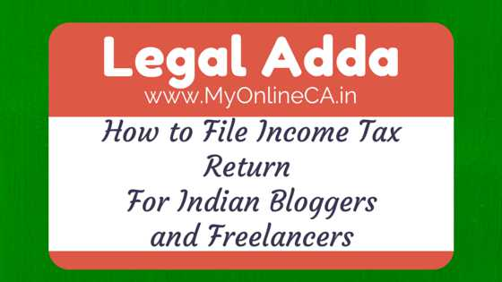 income tax return for indian blogger and freelancer