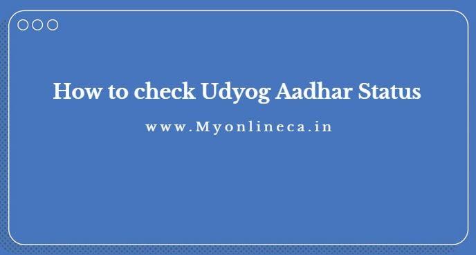 udyog aadhar status